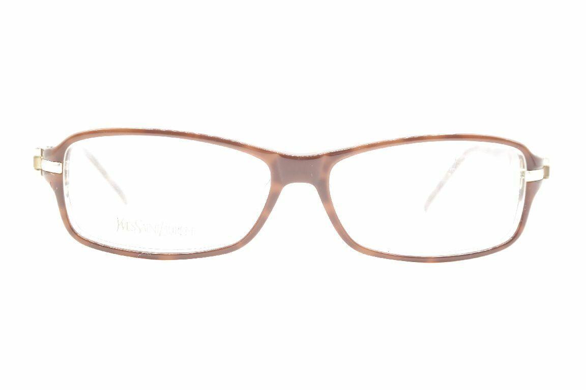 YSL Yves Saint Laurent YSL 6209 braun eckig Brille Brillengestell eyeglasses Neu