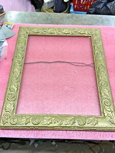 BS3-vintage-ANTIQUE-1800-039-s-Picture-or-mirror-FRAME-18-L-x-15-H-Gold-Leaf