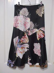 New-Mink-Pink-Label-Skirt-Short-Black-amp-Pink-Floral-and-flared-size-10