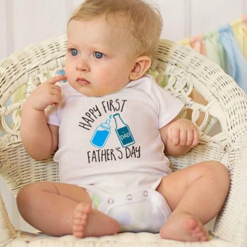 Neugeborene Unisex Baby Strampler mit Mode Wasserflasche Muster /& Letters PW