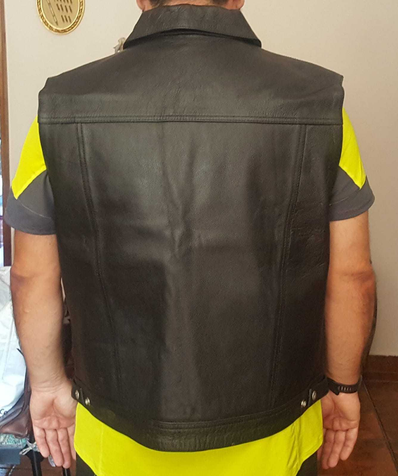 GIUBBOTTO GIACCA GIACCA GIACCA MOTO GILET IN PELLE BIKER CUSTOM 74df81