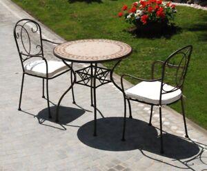 Tavolo Tondo Ferro.Dettagli Su Tavolo Tavolino Tondo Groove Ferro Battuto Decoro Ceramica Cm O 78x75 H