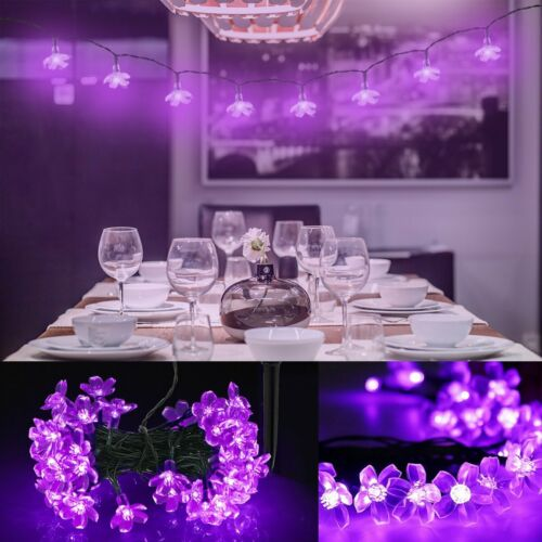 Solar Powered 50LED Wire String Fairy Light Outdoor Wedding Christmas Party