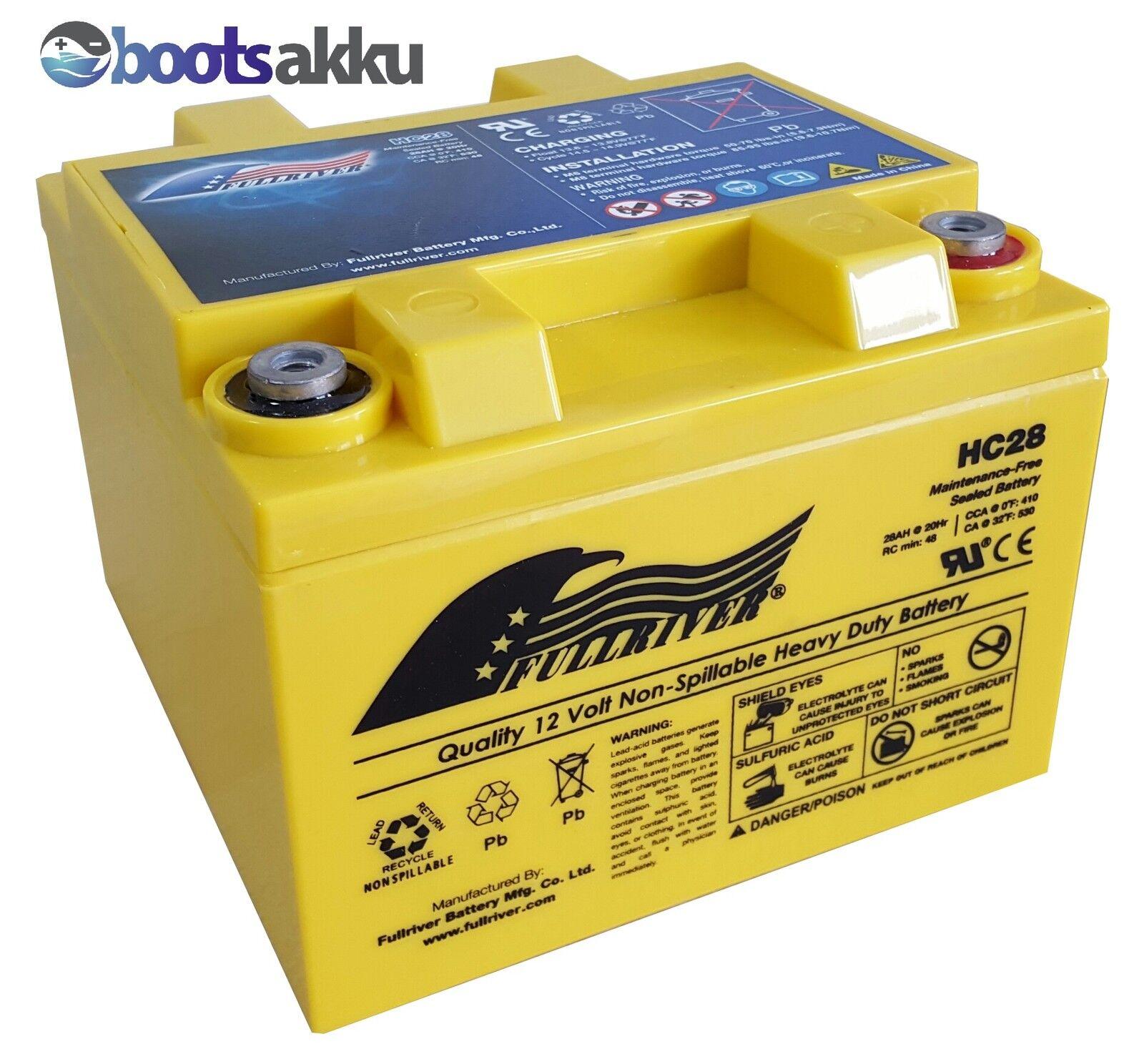 FULLRIVER AGM HC28 AGM FULLRIVER Akku Batterie 12V 28Ah wie Odyssey PC925 GENESIS 12EP26 b00c4e