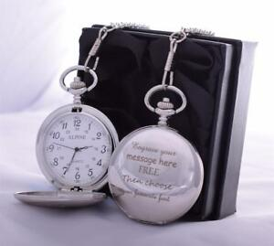 LASER-Engraved-Pocket-Watch-in-Silk-Gift-Box-For-Dad-Daddy-Grandad-Birthday-Son