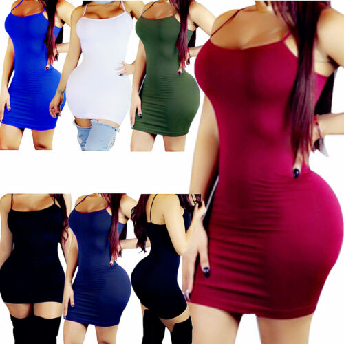 Women Bandage Bodycon Tops Sleeve Evening Party Cocktail Club Long Tank Dress