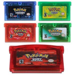 Game Boy Advance Pokemon Fire Red Version Cartridge Free ...