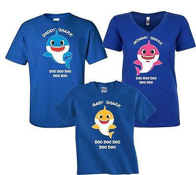 DADDY SHARK DOO DOO DOO T SHIRT Funny Baby Shark Music Video Themed T Shirt