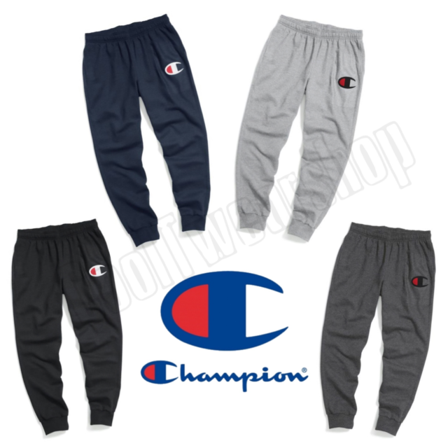 460e37958 Champion Authentic Men's Powerblend Fleece Jogger, Big C Logo GF22H Y06591