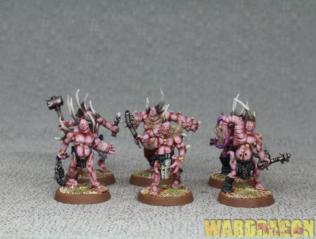 25mm Warhammer 40K WDS painted  Death Guard Death Guard Poxwalkers b35  contatore genuino