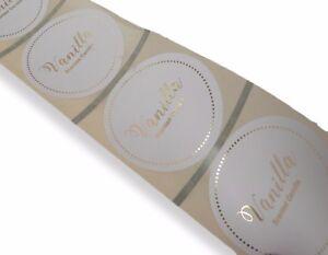 45-mm-Personnalise-de-feuille-d-039-or-Bougie-stickers-marque-Nom-de-societe-Odeur-Vanille