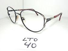 Nos Vtg 1980s Revlon 18 Sun Eyeglass Frame Classic Wine Red (Lto-40)