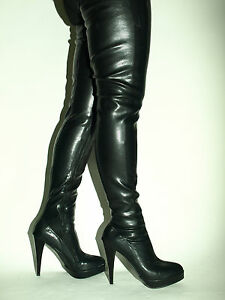 Details zu IMITATION OF LEATHER HIGH BOOTS SIZE 5 16 HEEL 5,5