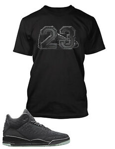 2de13182 23 Graphic Tee Shirt to Match Air Jordan 3 Flyknit Shoe Big Tall or ...
