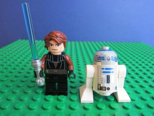 genuine LEGO STAR WARS ANAKIN SKYWALKER /& R2-D2 minifigure clone wars 9515 i84