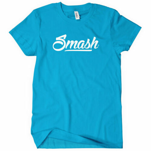 Smash Script Logo Women/'s T-shirt Typography Street Art Graffiti S to 2XL