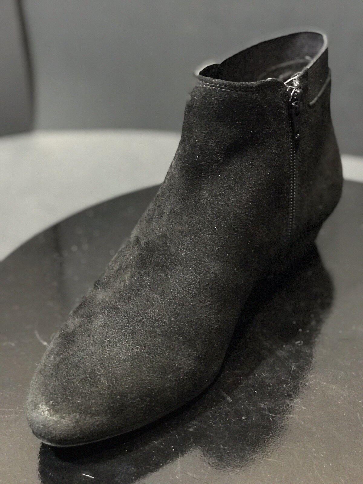 Aldo Simán Gamuza Negra Cremallera Lateral Botines De Mujer Talla 8.5 M EE. UU.