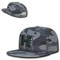 Camo University Of Hawaii Rainbow Warriors Flat Bill Snapback Baseball Hat Cap