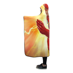 Cool The Flash Wearable Throw Wrap Hooded Blanket 80x56Inch
