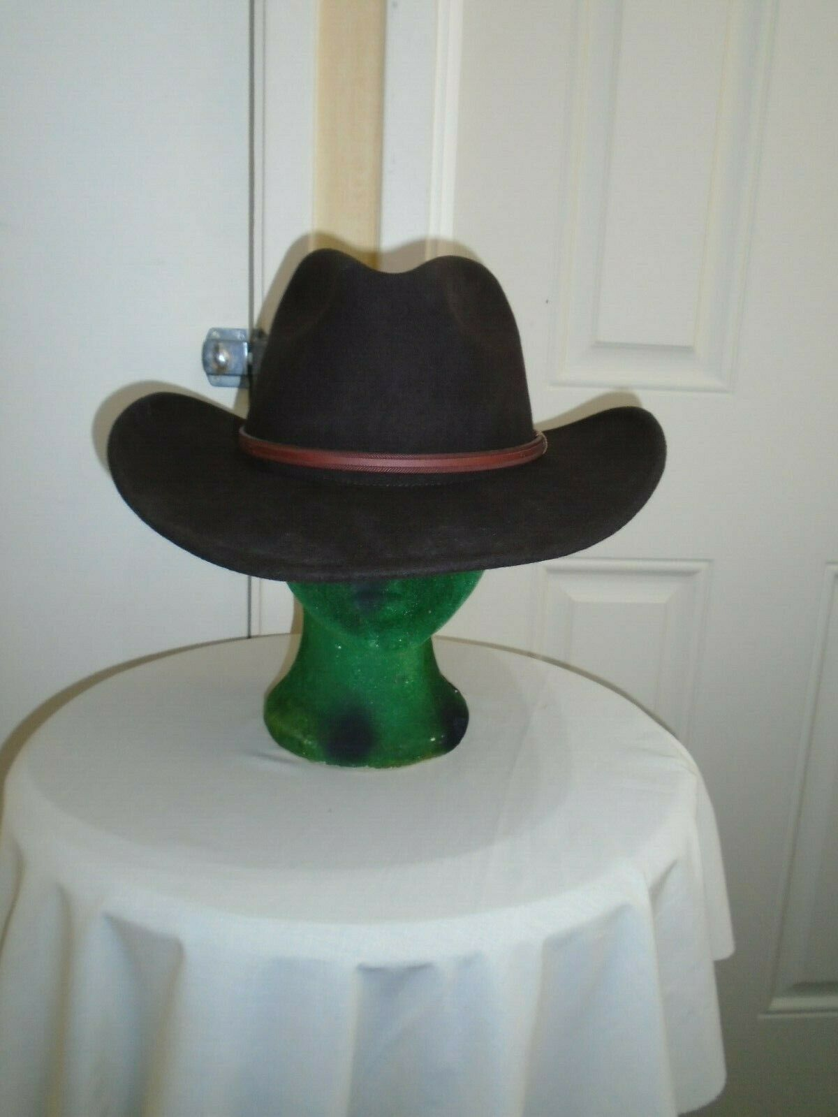 Stetson brown 100% wool meduim size 57cms cowboy