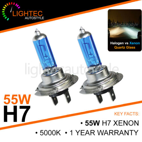 H7 55W HID WHITE XENON HALOGEN UPGRADE BULBS 12V PLASMA UPGRADE 5000K 6000K
