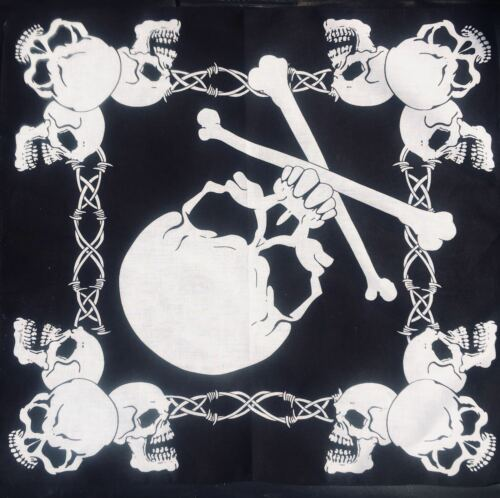 Skull /& Crossbones Bandana 100/% Cotton Head band Scarf Dog Neck Tie Feeanddave