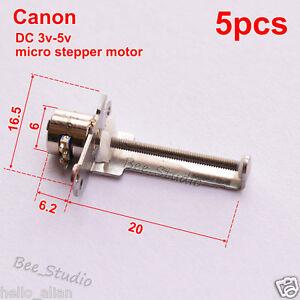 5pcs dc 3v 5v micro stepper motor 2 phase 4 wire motor mini linear slider ebay