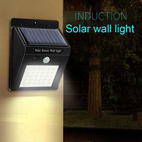 DEL Mur lumière solaire solaire corps Capteur rural Street Lampe étanche Mur Lampe