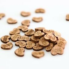 Rustic 50pcs Birthday Table Confetti Party Wooden Heart Baby Shower Decoration