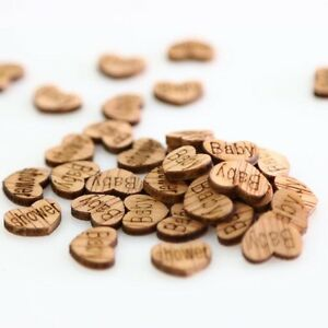50X-Vintage-Rustic-Wooden-Baby-Shower-Party-Table-Confetti-Birthday-Party