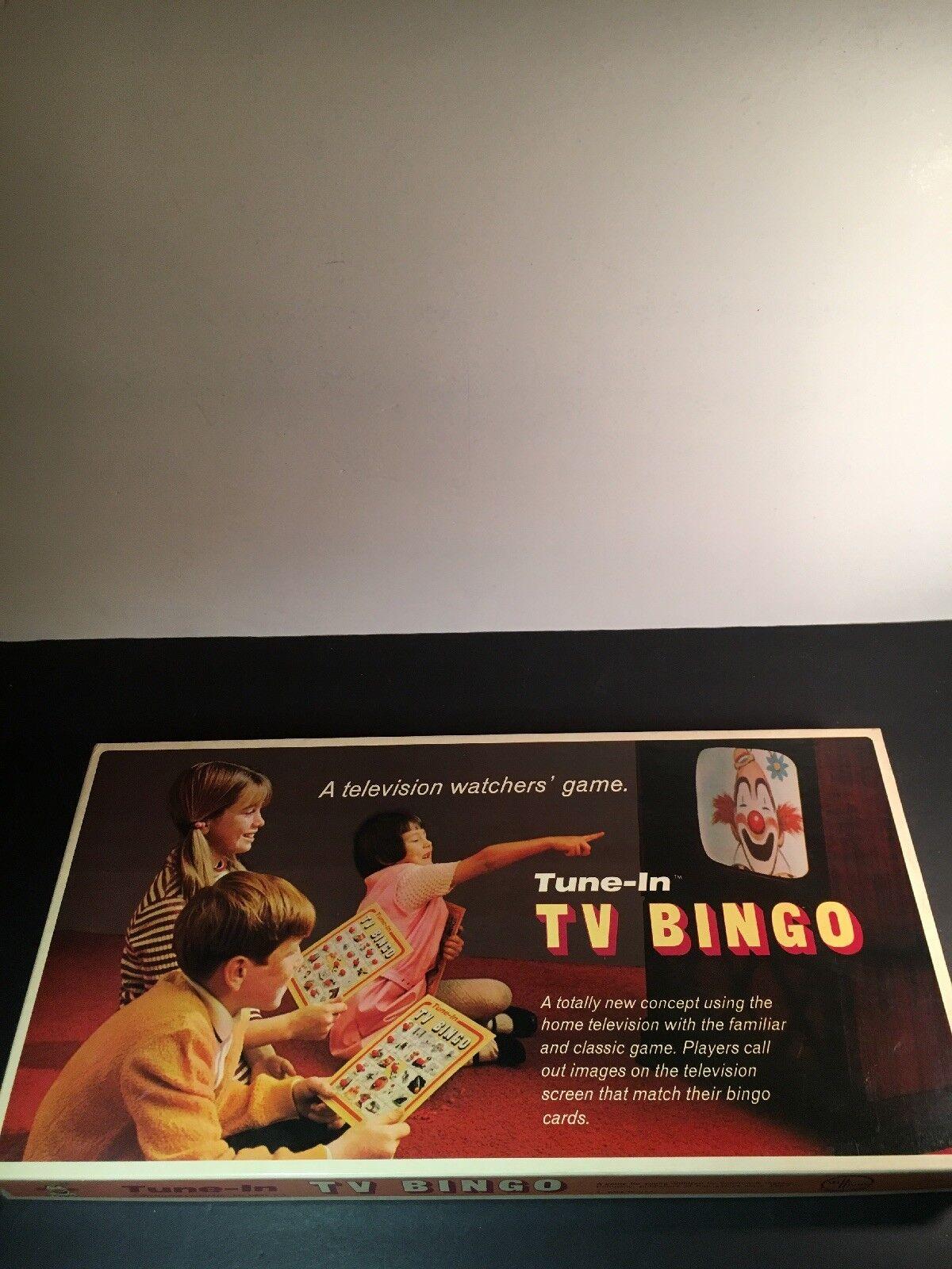 Vintage - brettspiel melodie in tv - bingo von 1970 selchow & richter co. at