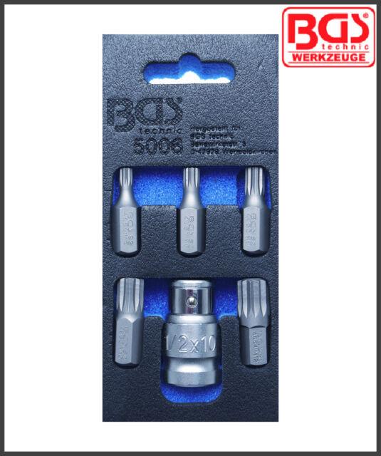   Innensechskant 6-14 mm 6-tlg. BGS 8887 Bit-Einsatz-Satz 12,5 mm 1//2