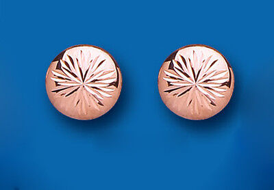 Rose Gold Earrings Button Stud Earrings Rose Gold Button Studs 10mm