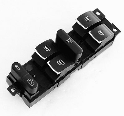 New Chrome Master Window Switch For VW Jetta Golf GTI MK4 Passat B5 /Driver Side