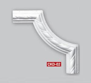 1 set 4 st ck zierecken wandleisten zierprofile. Black Bedroom Furniture Sets. Home Design Ideas