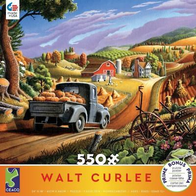 CEACO JIGSAW PUZZLE PUMPKINS WALT CURLEE 550 PCS OLD PICKUP #2424-2