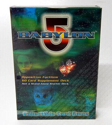 6 Starter Babylon 5 The Great War Supplement Decks CCG Game Card Box Sealed