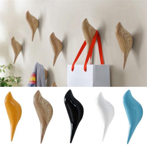 Bird Shaped Resin Coat Hook Wall Hanging Cloth Hat Hangers Home Garden Decor