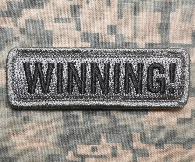 WINNING! TACTICAL USA ARMY WINNER US MILITARY MORALE BADGE ACU DARK HOOK PATCH