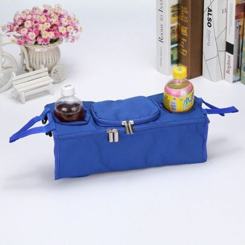 NEW Cup Holder Organizer Bag to fit BUGABOO strollers Black Pink Grey Blue Wipes