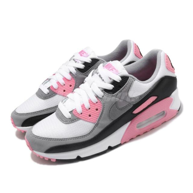 Nike Air Max 90 OG 2020 White Grey Pink Rose Womens Lifestyle Shoes CD0490 102