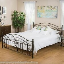 Bedroom Furniture King Size Iron Bed in Copper Gold Finish