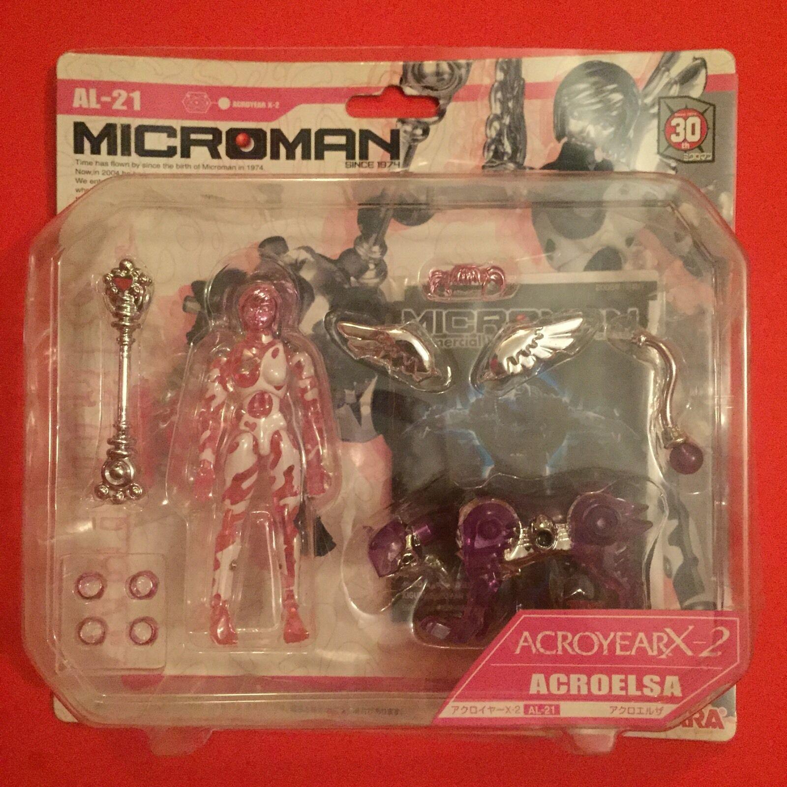 Microman Since 1974 Posable Figure: ACROELSA - Clear Rosa Variant - RARE  NIB