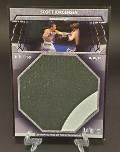 2011 Topps UFC Title Shot Fight Mat Relics Box Topper Scott Jorgensen - WEC 50