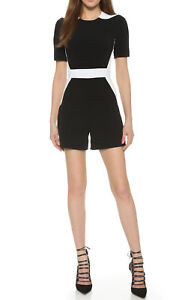Romper And 34 Fitted 2 Jumpsuit One us fr piece Black White Mugler B84WSn0n