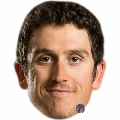Card Face and Fancy Dress Mask Geraint Thomas Celebrity Mask
