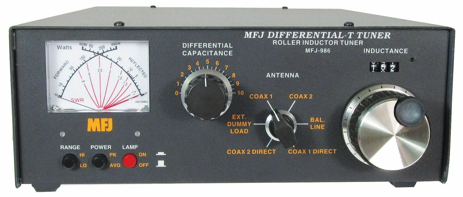 MFJ-986 HF (1.8-30MHz) Manual Roller Tuner w/ SWR/Wattmeter, Handles 3KW. Buy it now for 449.95
