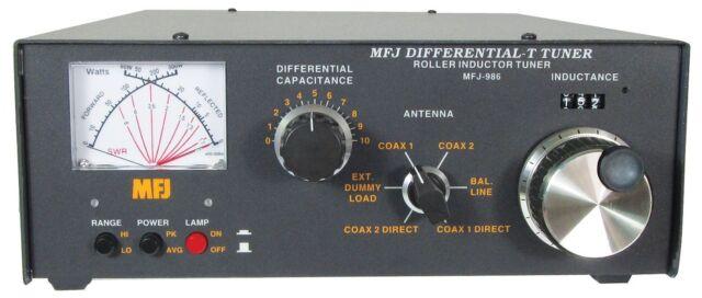 Handles 3KW MFJ-986 HF 1.8-30MHz Manual Roller Tuner w// SWR//Wattmeter