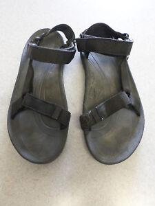 a6ebff02e7dd Image is loading TEVA-Black-Nylon-Gladiator-Strap-Sport-Sandals-Men-