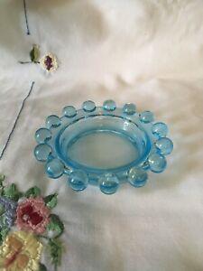 Vintage-Pale-Blue-Glass-Ashtray-Mid-Century-Decor-1950s-Ashtray
